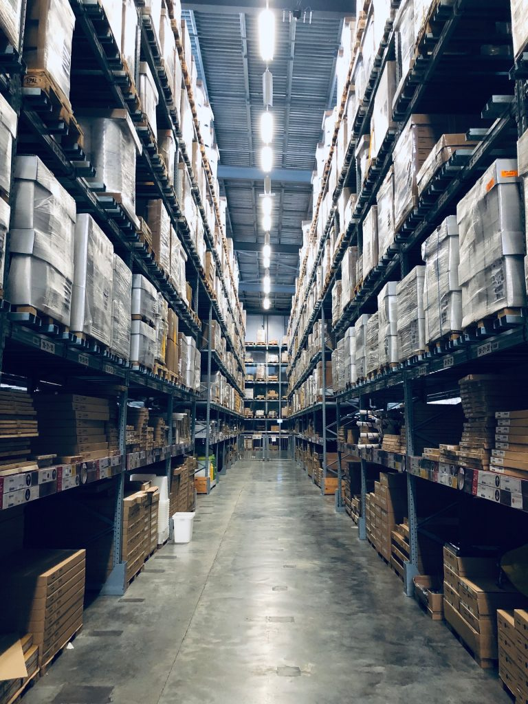 Warehouse of stored goods